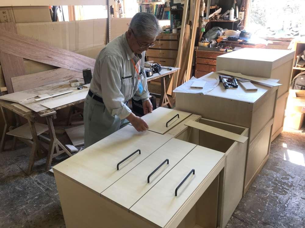 キッチンバックボード制作