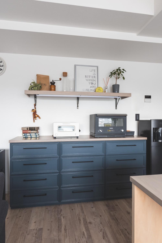制作のキッチンバックボード
